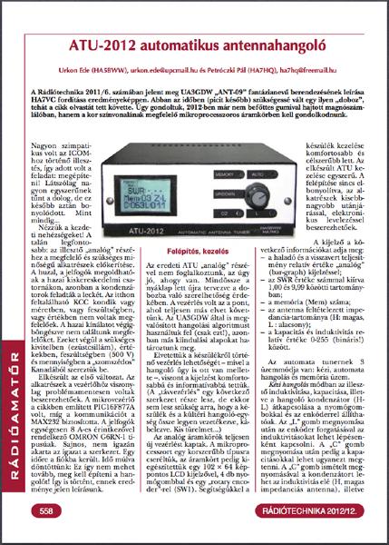 ATU-2012 első oldal