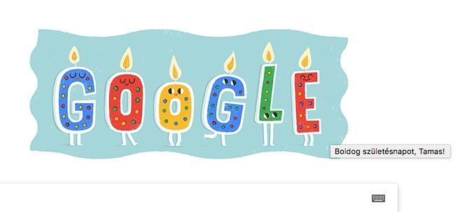 szülinap a google-tol